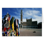 Europe, Italy, Tuscany, Siena. Piazza del Greeting Card