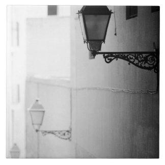Europe, Spain, Mallorca. Streelights, Palma Large Square Tile