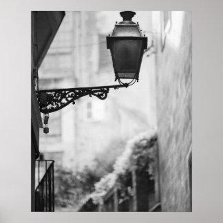 Europe, Spain, Mallorca. Street lamps, Palma Poster