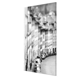 Europe, Switzerland, Bern. Old City buildings Stretched Canvas Print