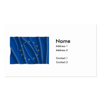 EUROPEAN UNION FLAG PACK OF STANDARD BUSINESS CARDS
