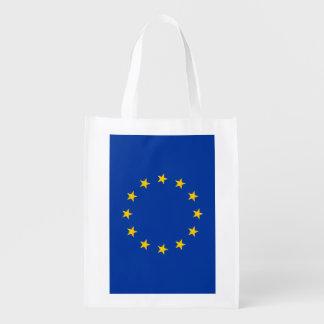 European Union flag reusable grocery shopping bag