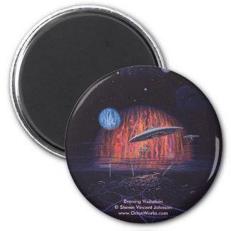 Evening Visitation, Evening Visitation Steven ... 6 Cm Round Magnet