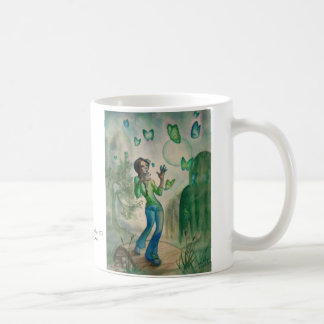 Evening With Butterflies Basic White Mug