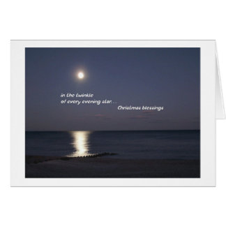 Every Evening Star Christmas Note Card