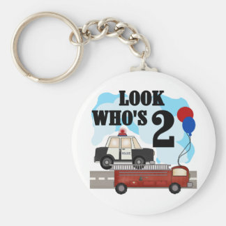 Everyday Heroes 2nd Birthday Tshirts and Gifts Basic Round Button Key Ring