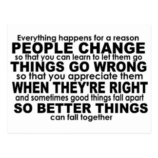Everything Happens for a Reason Inspirational Postcard