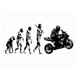 evolution bike postcard