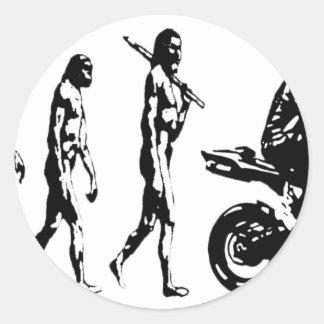 evolution bike round sticker