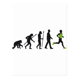 Evolution marathon more runner postcard