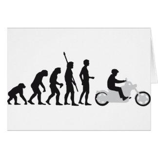 evolution more biker greeting card