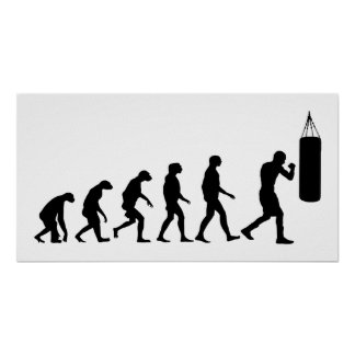 Evolution of Boxing Poster