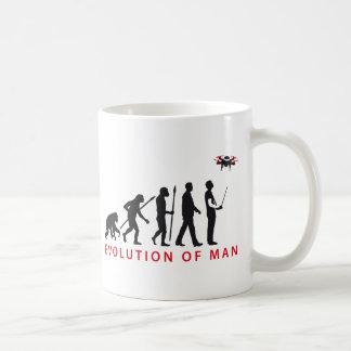 evolution OF one controlling drone Basic White Mug