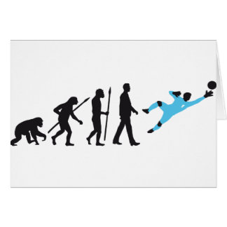 evolution OF one more soccer goal more keeper Greeting Card
