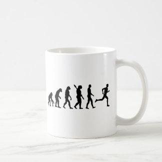 Evolution running marathon basic white mug