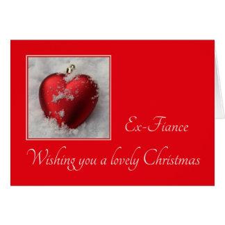 ex fiance Merry Christmas card