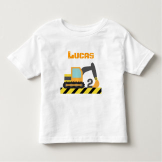 Excavator Construction Vehicle For 2 Years old T Shirts