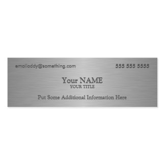 Executive Metallic Texture Print Pack Of Skinny Business Cards
