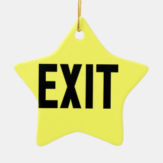 Exit, Way Out Ceramic Star Decoration
