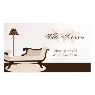 Exotic Giraffe Interior Design : Business Cards