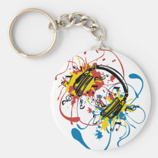 Explosion Basic Round Button Key Ring