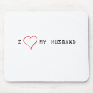 Expressing love for my husband mouse pad