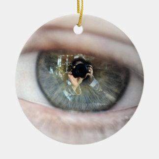 Eye-Macro Round Ceramic Decoration