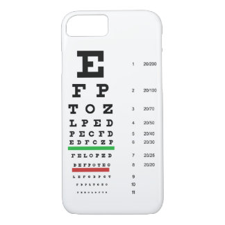 eye vision chart of Snellen for opthalmologist iPhone 7 Case