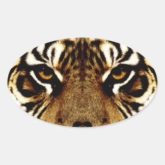 Eyes of a Tiger Oval Sticker