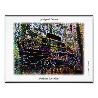 Fabulous Fifties Neon 57 Chevy Junkyard Sign Print Photo