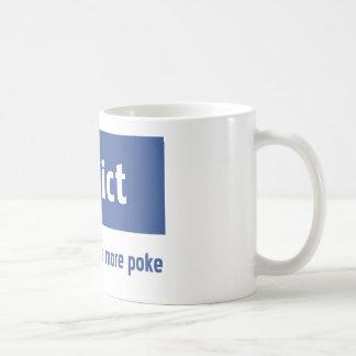 Facebook addict basic white mug