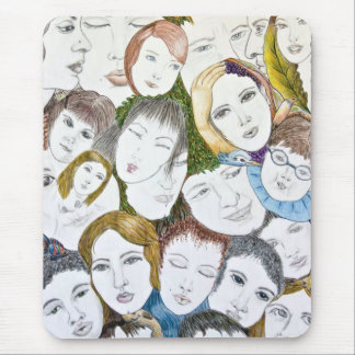 Faces in the Crowd Mouse Pad