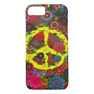Faerie Flowers Peace Sign Art iPhone 7 Case