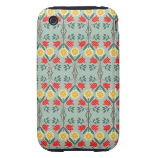 Fair isle fairisle floral retro hipster pattern iPhone 3 tough cover