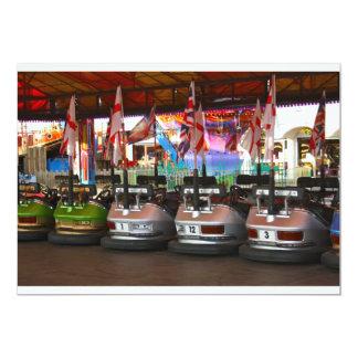 Fairground Dodgem Bumper Car Invitations