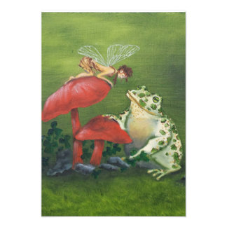 """""""Fairy and Frog"""" Invitations"""