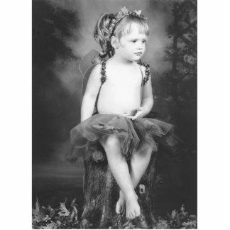 fairy girl standing photo sculpture