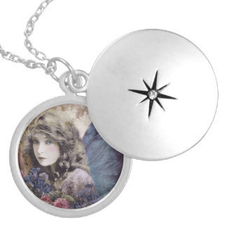 Fairy of the Flowers Round Locket Necklace