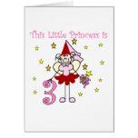 Fairy Princess 3rd Birthday Tshirts and Gifts Greeting Card