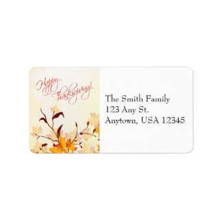 Fall Foliage Thanksgiving Address Labels