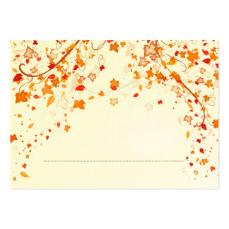 Fall Foliage Wedding Place Card Pack Of Chubby Business Cards