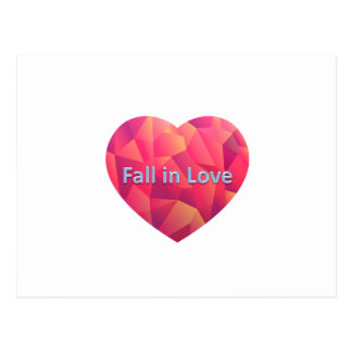 fall in love postcard