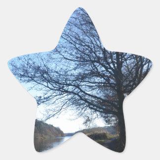 Fall Scene In England Star Sticker
