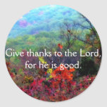 Fall Thanksgiving Photograph Round Sticker