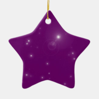 Fallen Ceramic Star Decoration