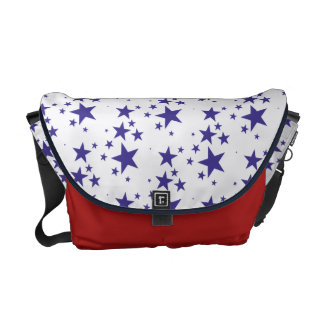 Falling Star Pattern Patriotic 4th of July Holiday Commuter Bag