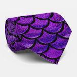 Falln Purple & Blue Mermaid Scales Tie