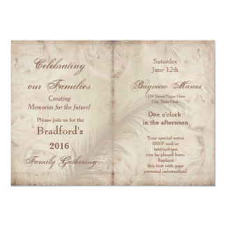 Family Gatherings -Invitations - VINTAGE FLORAL 13 Cm X 18 Cm Invitation Card