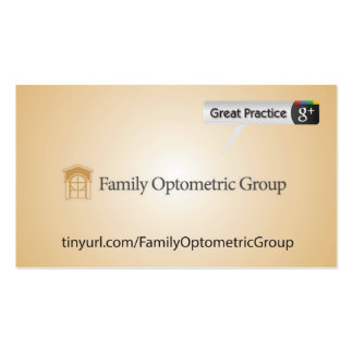 Family Optometric Group Pack Of Standard Business Cards