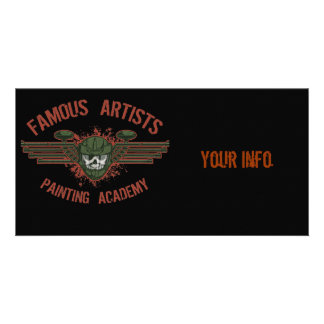 Famous Artists Paintball Personalised Photo Card